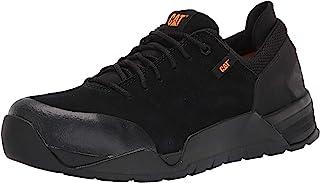 حذاء عمل من جلد السويدي للرجال من كاتربيلر أسود 10 W