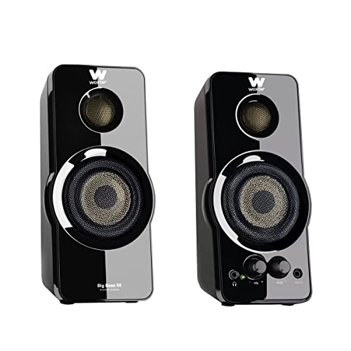Woxter Big Bass 95 - Altavoces multimedia estéreo (20 W, conexión 3.5 mm,