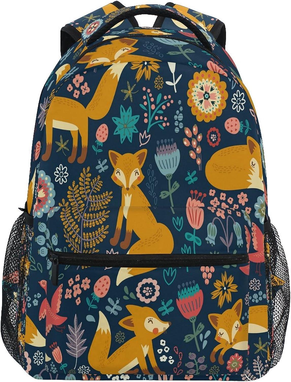 Zzkko Lustige Tier Fox Rucksäcke College School Book Bag Travel Wandern Camping Tagesrucksack B07B22YZ44 | Kaufen Sie online