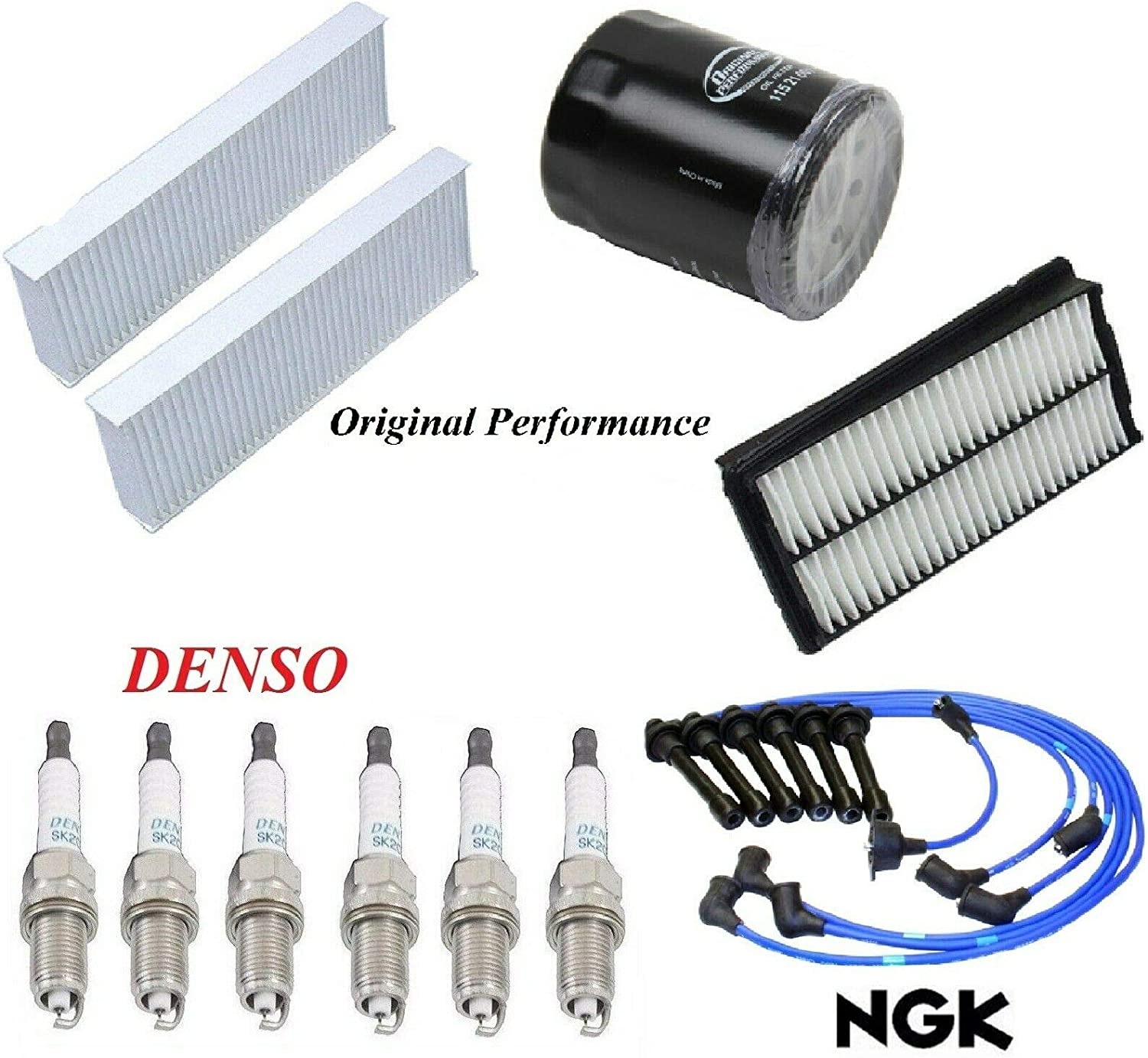 8USAUTO Tune Up Kit Jacksonville Mall Air Cabin Oil FIT Spark H Ranking TOP6 Wire Filters Plugs