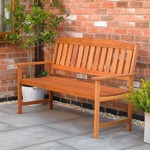 Wood Garden Benches Amazoncouk