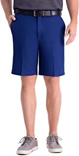 Haggar Men's Cool 18 Pro Straight Fit Stretch Solid Flat Front Short Regular and Big & Tall Size