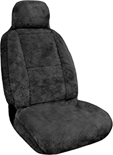 Eurow Luxury Sheepskin Seat Cover XL Design Comfortable Premium Pelt - Gray