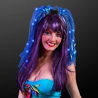 Light Up Blue Hair Noodle Headbands