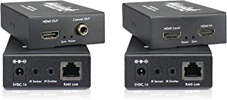 MuxLab HDMI Extender Pair HD Over Cat5e/6 | Transmit up to 164 feet/50 Meters | Transmitter and Receiver with IR Loop Out ...