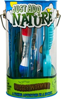 Just Add Nature Fishing Adventure in a Bucket Beginner Fishing Kit for Kids - Teaches Kids How to Fish - Includes Hooks, T...
