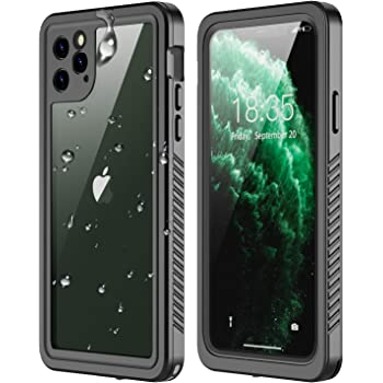 RedPepper iPhone 11 Pro Max Waterproof Case, Clear Full Body Heavy Duty Protection with Built-in Screen Protector Shockproof Rugged Cover Designed for iPhone 11 Pro Max 6.5 inch