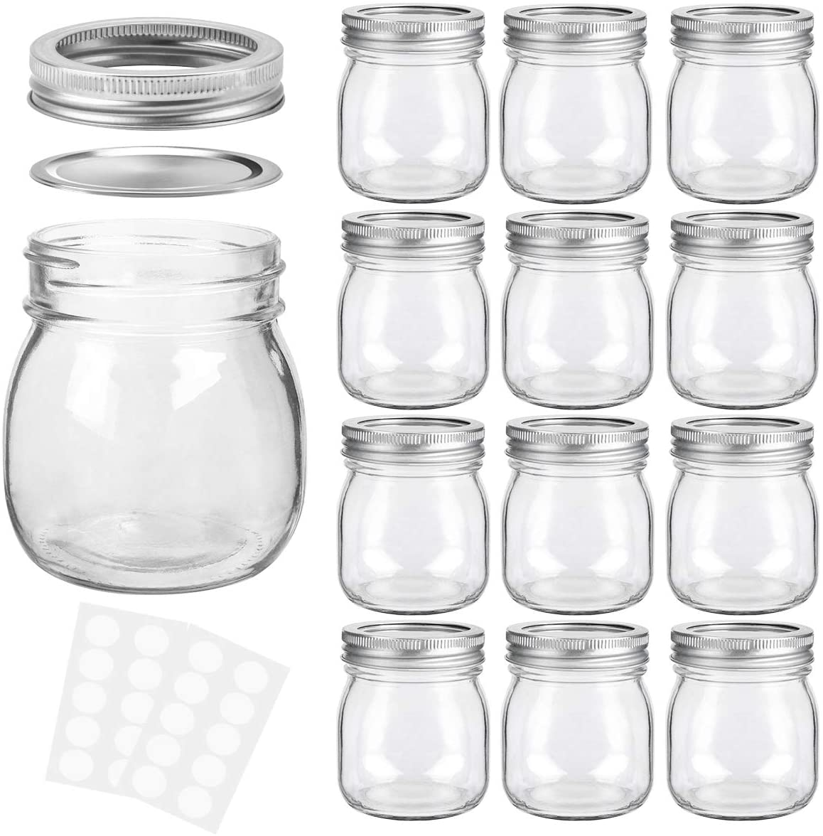 KAMOTA Mason 35% OFF Jars 10 oz With Regular J Lids for Ideal Bands excellence and