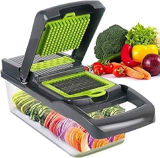 Dreamsbox Mandoline Cuisine Multifonction Professionnelle Coupe Légumes Séparateur D'œuf 8 Lames Différentes Couteau Amovi...