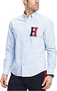 Mens H Embroidered Button Down Shirt