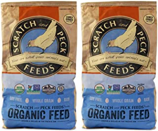 Scratch and Peck Feeds - Naturally Free Organic Layer Feed for Chickens and Ducks - Non-GMO Project Verified, Soy Free and...