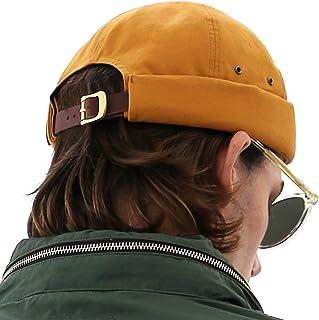 UNDERCONTROL Brimless Sailor Fisherman Vintage Leon Hat No Visor Skull Leather Strap Beanie Cap for Men&Women - Made in Korea