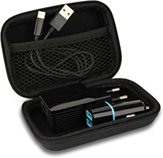 Cartrend 10422 reseväska förvaringsväska bärväska låda etui för 230 volt, 12 volt laddkontakt, data och laddkabel, typ C