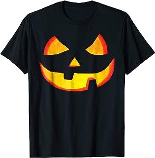 Pumkin Face Halloween T-shirt Jack O' Lantern fun tee