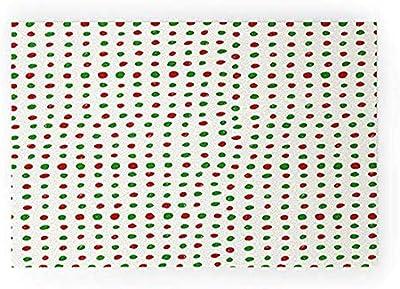"Society6 Leah Flores Holiday Polka Dots Welcome Mat, 30"" x 20"", Green"