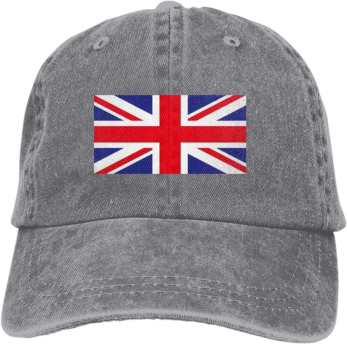 Flag England Denim Hat Adjustable Plain Cap Baseball Caps