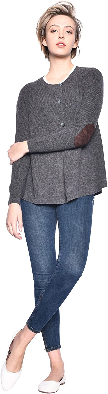 3VERY Women's 100% Cashmere Flare Cardigan w 3 Buttons