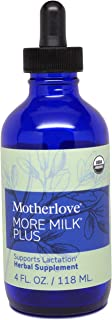 Motherlove More Milk Plus Tincture (4oz) Herbal Lactation Supplement to Enhance Breast Milk Supply for Breastfeeding Moms—...