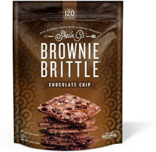 Brownie Brittle, Chocolate Chip, 5 Oz Bag (Pack of 6), The Unbelievably Delicious Chocolate Brownie Snack with A Cookie Crunch (Packaging May Vary)