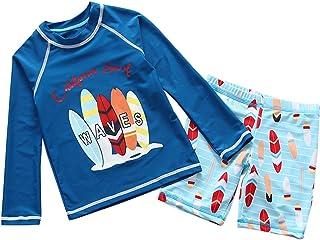 Boys Two Piece Rachguard Swimsuit Catoon Sun Protection Quick Dry Sunsuit