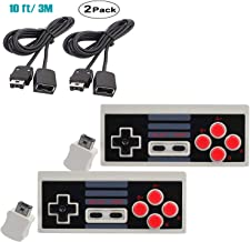 Wireless Controller for Nintendo NES Mini Classic Edition,2.4G Gamepad Entertainment System Console with Receiver,10FT Extension Cable,Super Gaming Joypad Controllers with Turbo Buttons 2 Pack