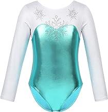 Body da Bambina Canottiera Ragazza Costume per Danza Classica Ginnastica Artistica Atletica Senza Manica Brillante Metallico Colore Nero Blu ROSEO