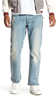 b7dc6e1e1 True Religion Men s Straight Leg Relaxed Fit Midnight Stitch Jeans w Flaps  In Rodeo Affair