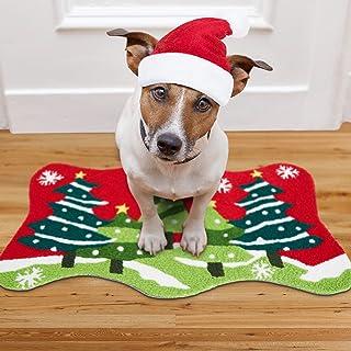 Delxo Home Garden Christmas Tree 18 x 30 Inch Decorative Floor Mat Holiday Welcome Christmas Tree Doormat