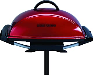 George Foreman GGR201RAU, Indoor/Outdoor Barbeque, Easy To Remove Grill, Red