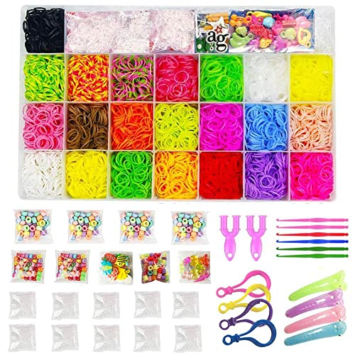 Mini Slingshot Loom Clips Colourful Tie Dye Loom Bands Hook S