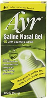Ayr Saline Nasal Gel with Soothing Aloe, 2 Count,0.5 oz