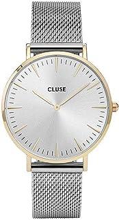 CLUSE La Bohème Mesh Gold Silver CL18115 Women's Watch 38mm Stainless Steel Strap Minimalistic Design Casual Dress Japanese Quartz Elegant Timepiece
