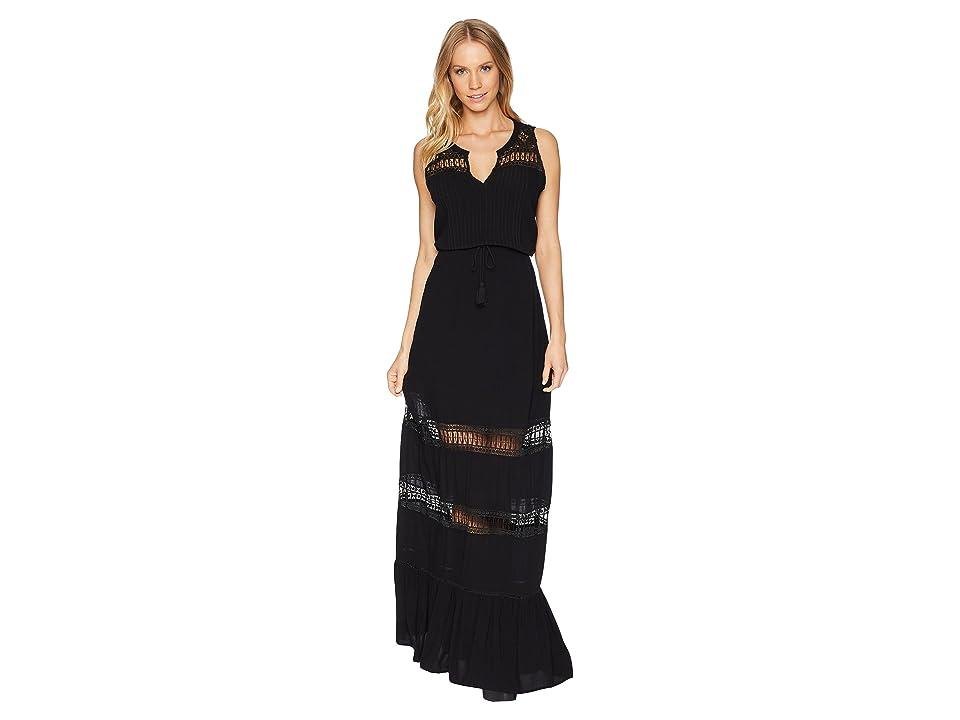 BB Dakota Ranae Lace Detailed Maxi Dress (Black) Women