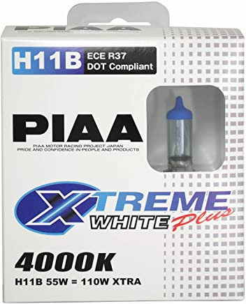 PIAA 15411 H11B Xtreme White Plus High Performance Halogen Bulb, (Pack of 2)