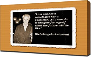 Michelangelo Antonioni Quotes 1 - Canvas Art Print