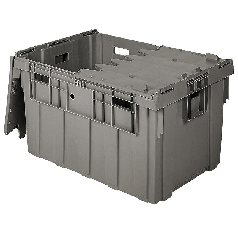 優遇エリート交換可能Buckhorn as3424201201000?Attached蓋フリップトップストレージと配布プラスチックトート、34インチx 24インチx 20インチ、グレー