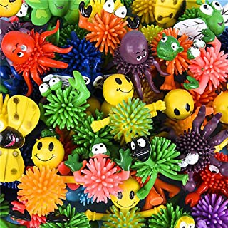 Kicko Assorted Mini Spiky Character Balls with Easter Basket Fillers, 2 Inch, 50 Pieces