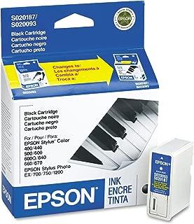 Epson Stylus Photo 700 Color 440 660 640 600 S020187(S020093/S020187) OEM Genuine Black Inkjet Cartridge