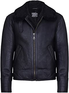 Infinity Leather Aviator B3 Shearling Montone Bomber in Pelle Giacca Volante Pilota Uomo