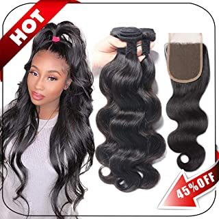 hair weave with lace closure