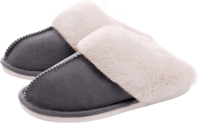 Amazon Com Watmaid Women S House Slippers Memory Foam Fluffy Soft Slippers Slip On Winter Warm Shoes For Women Slippers