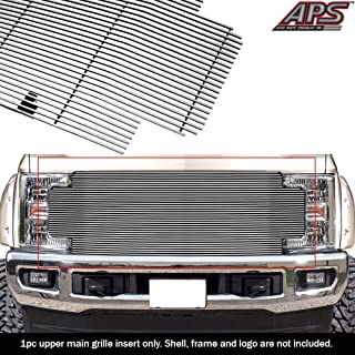 APS Compatible with 2017-2019 Ford F-250 F-350 F-450 F-550 Without Front Camera Aluminum Chrome Horizontal Billet Grille Insert