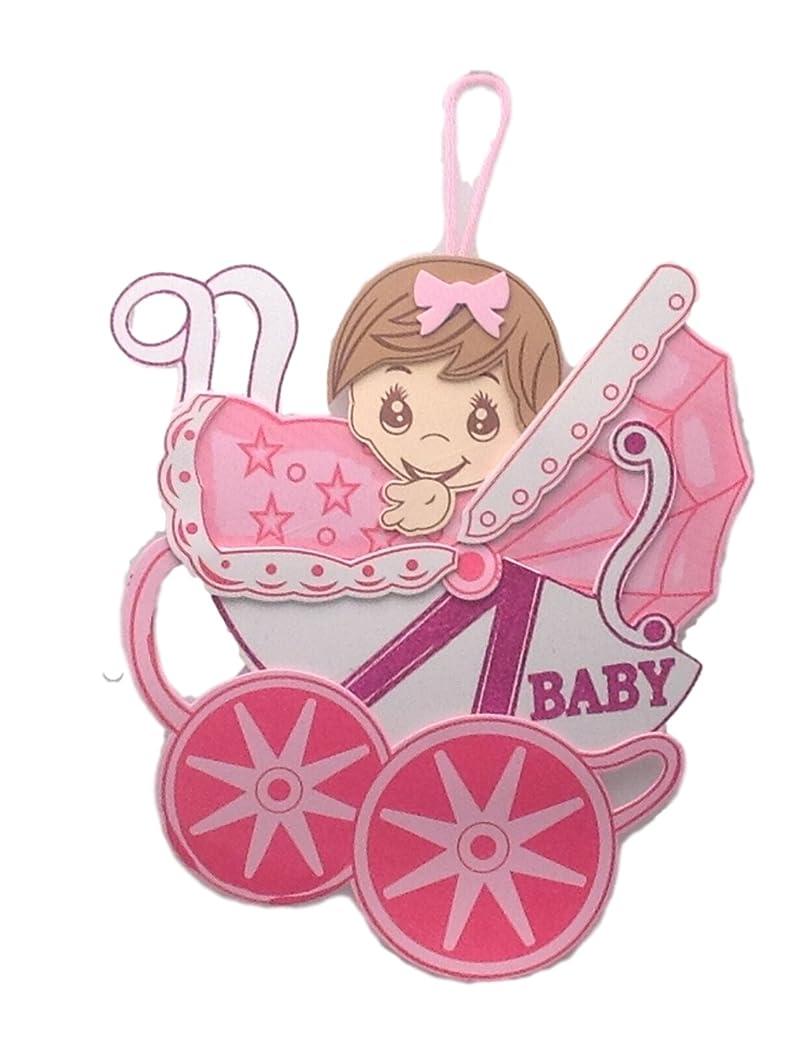 2 Pcs Baby Shower Birthday Hanging Foam Girl Buggy Centerpiece Decoration 16