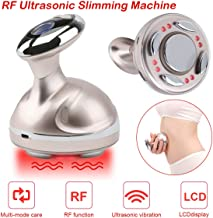 Fat Remover Machine EMS Sliming Machine Radio Frequency Red Light Vibration Weight Loss Machine for Body with LCD Display USB Rechargeable Gold