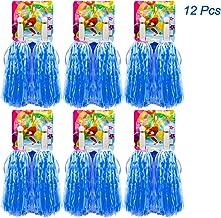 Hatisan-Pro 12 Piezas de Pompones de Animadora Pompón de Plástico de Animadora para Equipo de Deporte Animador de Espíritu