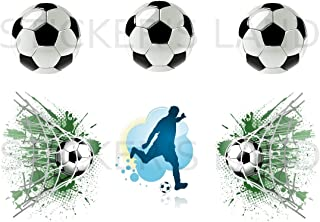 Stickers DÉCORATIFS Football à découper (Planche à Stickers Dimensions 21x28cm en Papier ADHESIF Transparent)