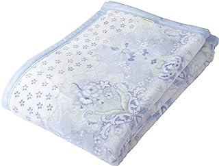 東京西川 綿毛布 ブルー シングル 綿100% 日本製 さらさら インダス綿 マイモデル FQ09061003B