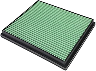 For Jeep Grand Cherokee 4.0L 4.7L Washable Drop-in Panel Air Filter (Green)