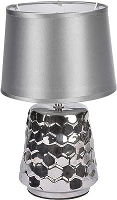 HOMEA 6LCE127AG Lampe, CERAMIQUE, 40 W, Argent, DIAMETRE20H32CM