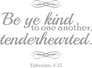 Omega Ephesians 4:32 Be ye Kind to one Another, Tender… Vinyl Decal Sticker Quote - Large - Metallic Silver